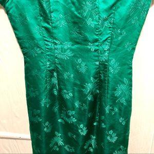 handmade Dresses - Vintage Green Japanese Dress